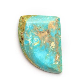 Untreated Natural Turquoise Faceted Top Cabochon, Approx 22.5x17mm