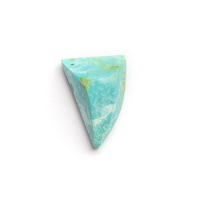 Untreated Natural Turquoise Faceted Top Cabochon, Approx 17x12mm