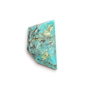 Untreated Natural Turquoise Faceted Top Cabochon, Approx 21.5x12.5mm