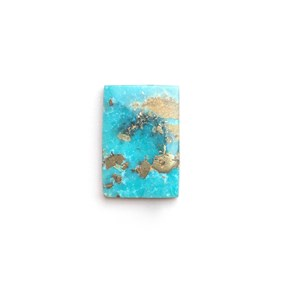 Untreated Natural Persian Turquoise Rectangle Cabochon, Approx 14.5x10mm