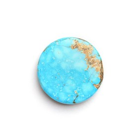 Untreated Natural Persian Turquoise Round Cabochon, Approx 18mm