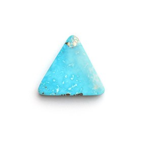 Untreated Natural Persian Turquoise Triangular Cabochon, Approx 15.5mm