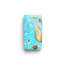 Untreated Natural Persian Turquoise Rectangle Cabochon, Approx 20x10mm