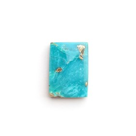 Untreated Natural Persian Turquoise Rectangle Cabochon, Approx 14x10mm