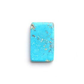 Untreated Natural Persian Turquoise Rectangular Cabochon, Approx 10.5x11mm