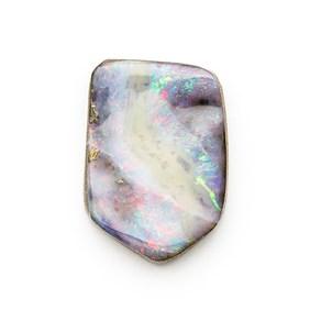 Australian Boulder Opal Freeform Cabochon, Approx 17.5x12.5mm