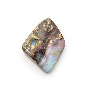 Australian Boulder Opal Freeform Cabochon, Approx 12.5x11mm