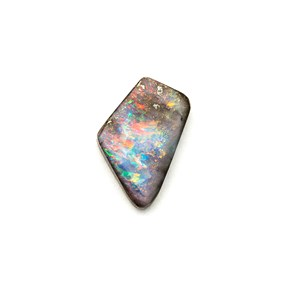 Australian Boulder Opal Freeform Cabochon, Approx 11.5x9mm