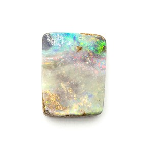 Australian Boulder Opal Freeform Cabochon, Approx 15.5x12mm
