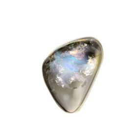 Australian Boulder Opal Freeform Cabochon, Approx 15x10.5mm