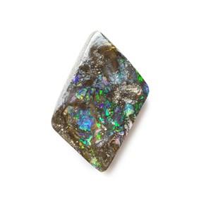 Australian Boulder Opal Freeform Cabochon, Approx 15x11.5mm