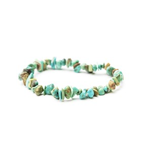 Chinese Turquoise Chip Bead Bracelet