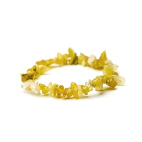 Yellow Opal Chip Bead Bracelet