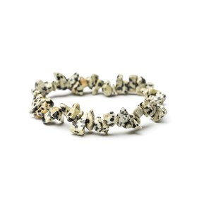 Dalmatian Jasper Chip Bead Bracelet