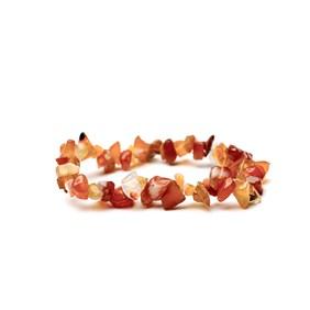 Carnelian Chip Bead Bracelet