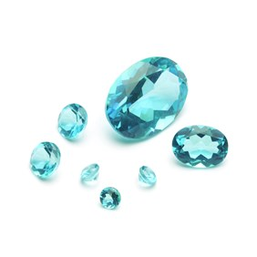 Paraiba Aqua Blue Quartz Faceted Stones