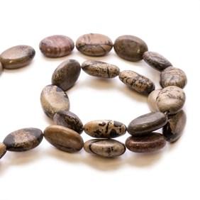 Landscape Stone Flat Oval Beads
