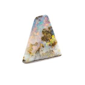 Australian Boulder Opal  Freeform Cabochon, Approx 20x17.5mm