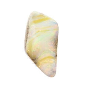 Australian Boulder Opal  Freeform Cabochon, Approx 29x15mm