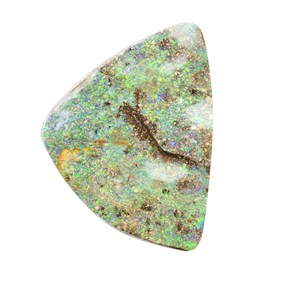 Australian Boulder Opal  Freeform Cabochon, Approx 33x30mm