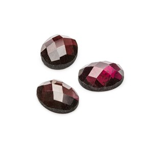 Garnet Checker Cut Faceted Top Cabochons