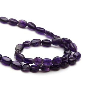 Amethyst Flat Oval Beads