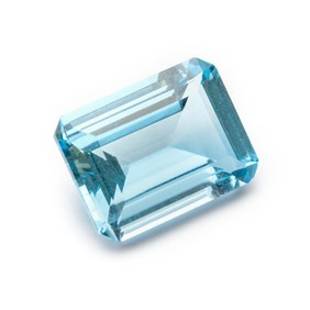 Sky Blue Topaz Octagon Faceted Stone, Approx 20x15mm