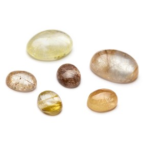Golden Rutile Quartz Cabochons