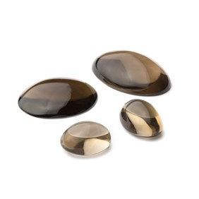 Smoky Quartz Oval Cabochon, Approx 30x22mm