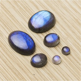 BLue flash labradorite cabochons uk supplier