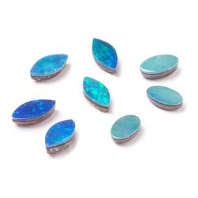 Australian Opal Doublets (Blue/Green)
