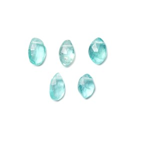 Apatite Marquise Shape Faceted Briolette Bead, Approx 7x4mm, Pack of 10 Beads