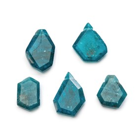 Neon Apatite Faceted Head Drilled Slice Beads