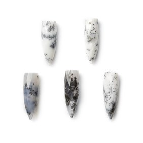 Dendrite Opal Bullet Shape Head Drilled Focal Pendant Bead