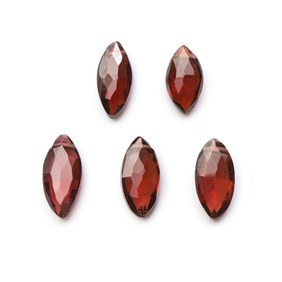 Garnet Faceted Marquise Briolette Beads