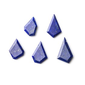 Lapis Lazuli Faceted Head Drilled Slice Beads