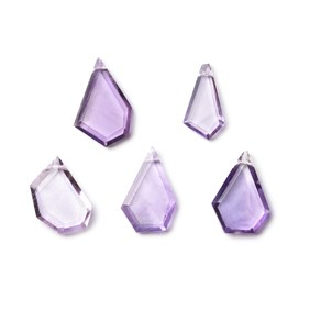 Amethyst Faceted Head Drilled Slice Beads