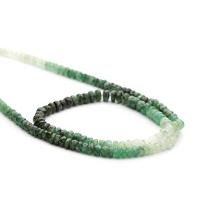 Emerald Ombre Faceted Rondelle Beads