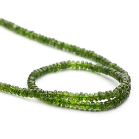 Chrome Diopside Faceted Rondelle Beads