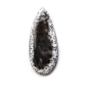 Dendrite Opal Teardrop Cabochon, Approx 43x19mm