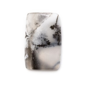 Dendrite Opal Rectangle Cabochon, Approx 22.5x14.5mm