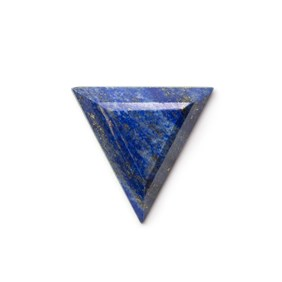 Lapis Lazuli Faceted Top 26x24mm Triangular Cabochon