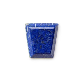 Lapis Lazuli Faceted Top 23x22mm Trapezoid Cabochon