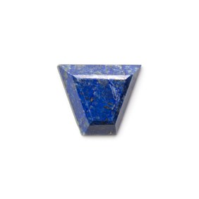 Lapis Lazuli Faceted Top 20.5x17mm Trapezoid Cabochon