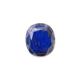 Lapis Lazuli Faceted Top 22x20mm Oval Cabochon