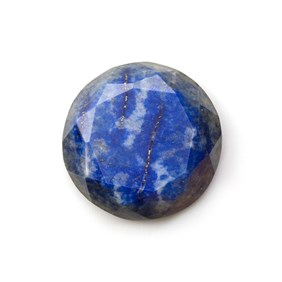 Lapis Lazuli Faceted Top  30mm Round Cabochon