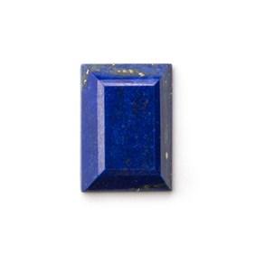 Lapis Lazuli Faceted Top  20.5x14.5mm Rectangle Cabochon