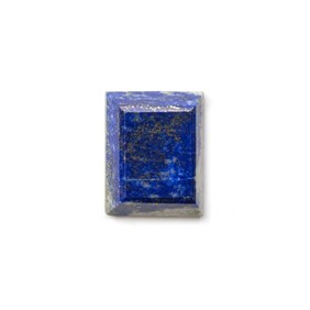 Lapis Lazuli Faceted Top  21.5x17mm Rectangle Cabochon