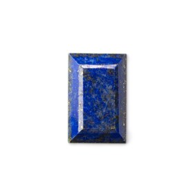 Lapis Lazuli Faceted Top  24.5x16mm Rectangle Cabochon