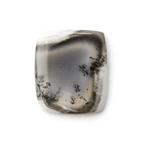Dendrite Opal Rectangle Cabochon, Approx 25.5x22mm